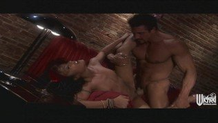 HOT Asian brunette Keylani-Lei loves to ride her BF on the couch