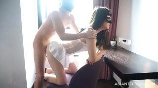 Sex with beautiful Asian girl in mask