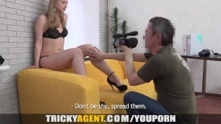 Tricky Agent – Her first porn casting movie