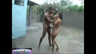 Wild Man Jungle Fucks Hot Girl During Monsoon In The Pouring Rain